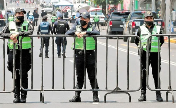 Mexico City police say protective equipment too little and too late.