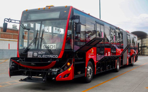 One of the capital's new Chinese-made buses.