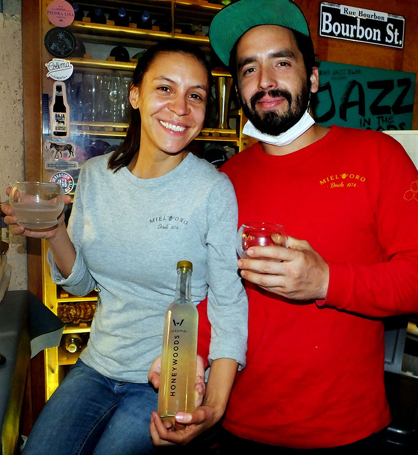 Ivel Orozco and Alejandro Pineda of Jalisco's Mieloro supply fine honey for Beer in the Woods' new line of mead.