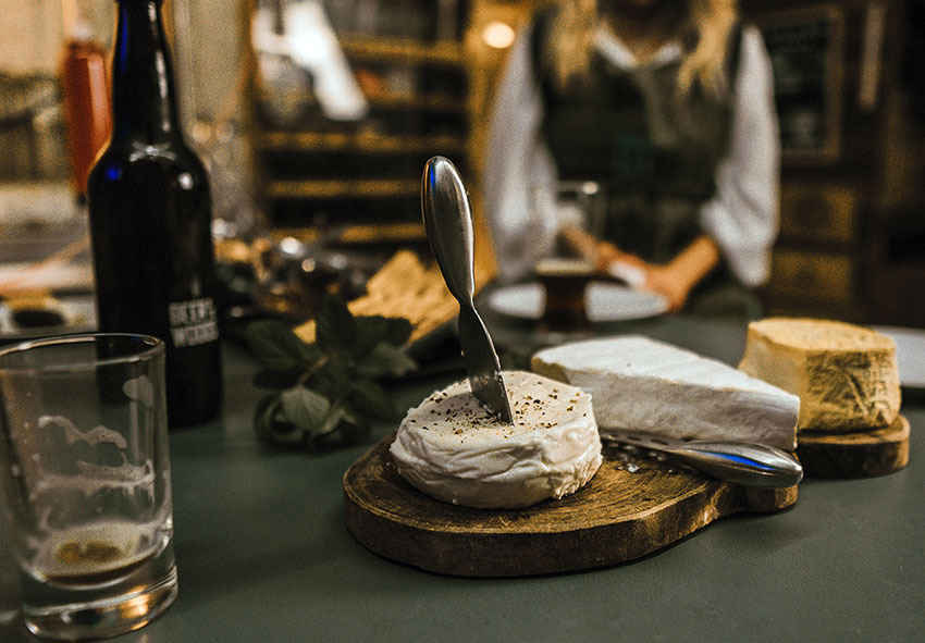 Mexican made French cheeses for beer pairings.