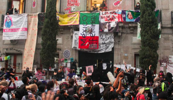 Feminists occupied the headquarters of the National Human Rights Commission in September.